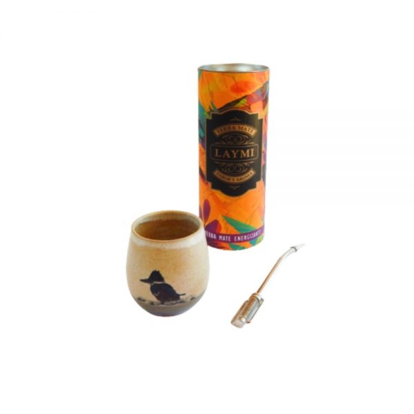 Yerba mate, matero cerámica y bombilla